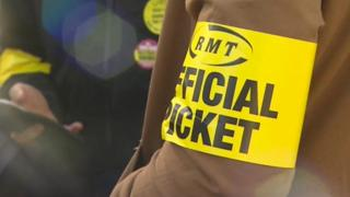 RMT union members strike
