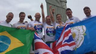 Ride to Rio finish
