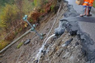 Collapsed road in Knoydart