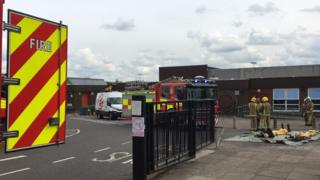 Fire engines at school