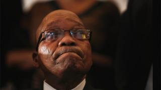 Le président sud-africain Jacob Zuma à l'église méthodiste Bryanston lors d'une journée nationale de prière, le 8 décembre 2013 à Johannesburg.