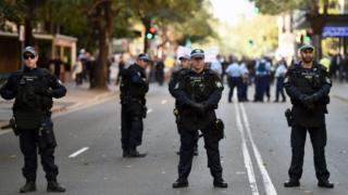 Australian police officers in Sydney. Photo: October 2015