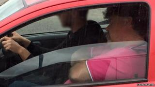 Driving instructor with driver