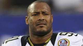 New Orleans Saints defensive end Will Smith in an NFL game against New York Giants in East Rutherford, N.J. 9 Dec 2012