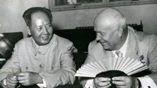 毛澤東和蘇聯領導人赫魯曉夫