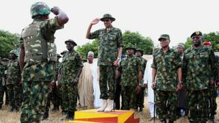 Nigeria president and military