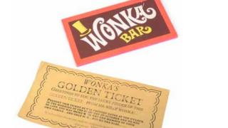 Wonka Bar and Golden Ticket