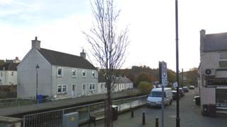 Burn at Cathcartson in Dalmellington
