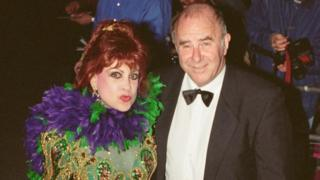 Margarita Pracatan with Clive James in 1995