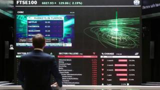 Screens at the London Stock Exchange