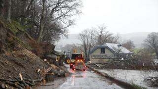 Pooley Bridge flood clear up