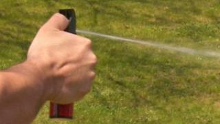 Spray being used