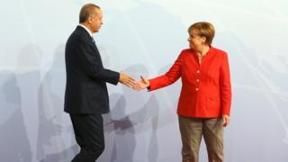 آنگلا مرکل و رجب طیب اردوغان درحاشیه نشست گروه بیست در هامبورگ دیدار کردند