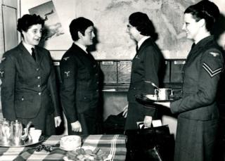 Photo from the 1960s of women working in the Holmpton Cold War bunker