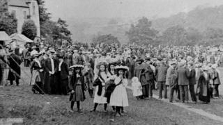 Trade union gathering at Rudyard Lake, 1907