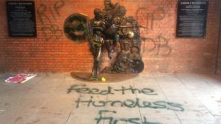 David Bowie statue vandalism