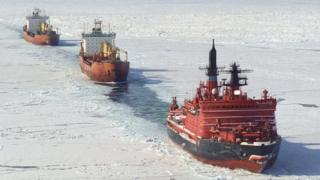 Ice breaker and tanker