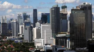 A general view shows the business district in the capital of Jakarta, Indonesia, May 2, 2019.