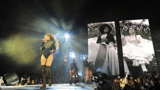 Beyonce performs during the opening night of the Formation world tour at Marlins Park on 27 April, 2016 in Miami, Florida
