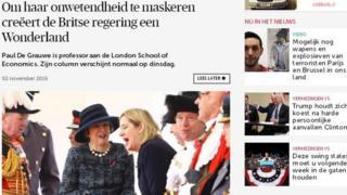 An article in Belgium's De Morgen discusses Brexit