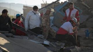 Le séisme a frappé dimanche la région montagneuse de l'ouest de l'Iran.