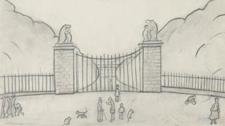 Lowry sketch of The BearGates