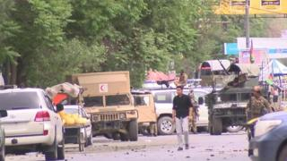 افغان پلازمېنه کابل کې د راپورونو له مخې د يوه امريکايي بنسټ پر دفتر شوی بريد پاى ته رسېدلى، او تر اوسه د ۱۵ تنو د ژوبلېدو خبره کېږي.