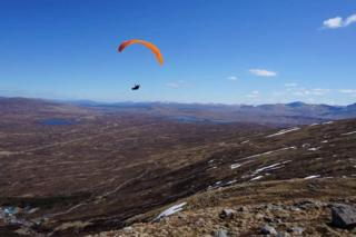 Paragliding at Glencoe.