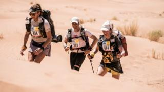 Sophie Raworth running the first 18 miles of the Marathon des Sables