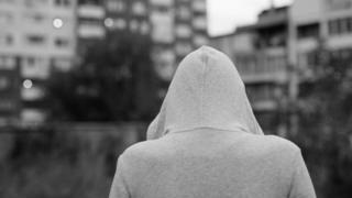 Woman in hoodie