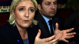 Head of the French far-right National Front party and presidential candidate Marine Le Pen. 27 Jan 2017