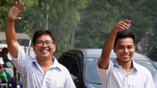 Wa Lone, de 33 años, y Kyaw Soe Oo, de 29