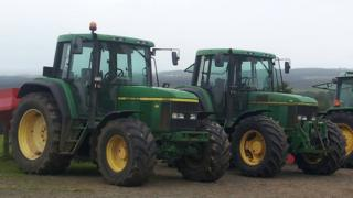 Two tractors and a low loader were taken from land at Woodside Road, Ballymena