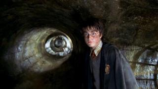 O ator Daniel Radcliffe como Harry Potter