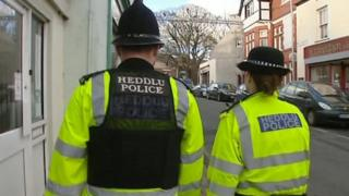 Police officers on the beat in Wales