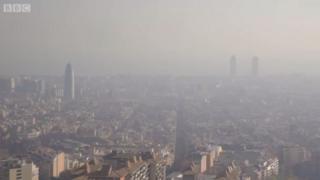 Poluição na cidade espanhola
