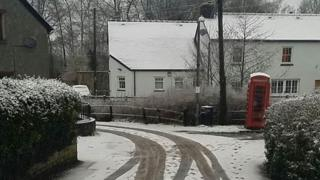 Snow fell in parts of Wales including Brecon