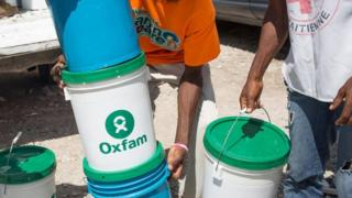 Oxfam staff in Haiti