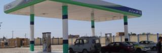 The natural gas filling station in Sheberghan, Afghanistan.