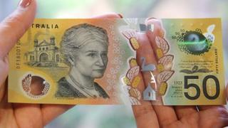 Billete de 50 dólares australianos.