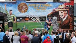 The mural to Patrick O'Connell was unveiled in west Belfast on Friday