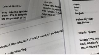 Bercow letter