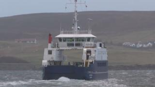 Ferry in Shetland