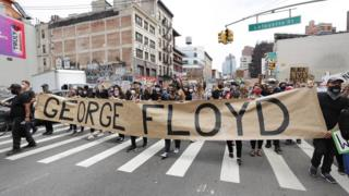 Protest in New York City over the death of George Floyd, 2 June