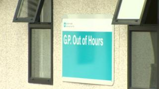 GP Out of Hours sign
