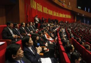 Delegates attend the opening ceremony of the 12th National Congress of Vietnam's Communist Party in Hanoi, Vietnam, 21 January 2016.