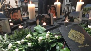 حفل تأبين ضحايا الطائرة الأوكرانية