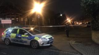 A police cordon in Unity Close