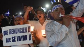 Protestas contra el gobierno de Daniel Ortega en Nicaragua