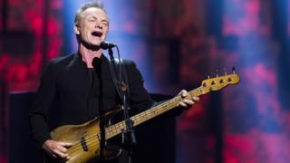 Sting performs during the 2016 Nobel Peace Prize Concert in Oslo, Norway